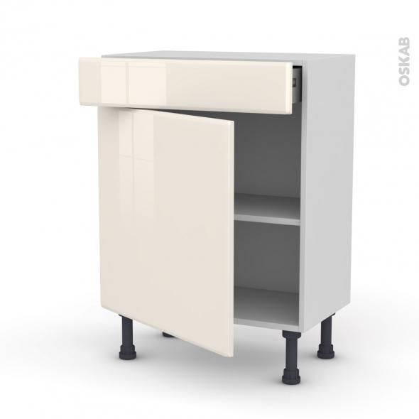 IRIS Ivoire - Meuble bas prof.37 - 1 porte 1 tiroir - L60xH70xP37