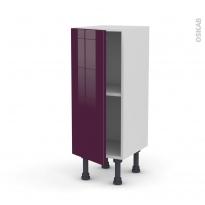 Meuble de cuisine - Bas - KERIA Aubergine - 1 porte - L30 x H70 x P37 cm