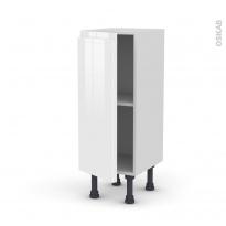 Meuble de cuisine - Bas - IPOMA Blanc - 1 porte - L30 x H70 x P37 cm