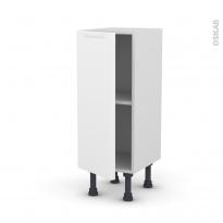 Meuble de cuisine - Bas - PIMA Blanc - 1 porte - L30 x H70 x P37 cm