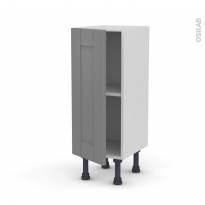 Meuble de cuisine - Bas - FILIPEN Gris - 1 porte - L30 x H70 x P37 cm