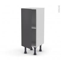 Meuble de cuisine - Bas - GINKO Gris - 1 porte - L30 x H70 x P37 cm