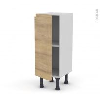 Meuble de cuisine - Bas - IPOMA Chêne naturel - 1 porte - L30 x H70 x P37 cm