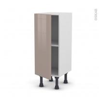 Meuble de cuisine - Bas - KERIA Moka - 1 porte - L30 x H70 x P37 cm