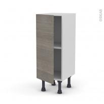 Meuble de cuisine - Bas - STILO Noyer Naturel - 1 porte - L30 x H70 x P37 cm