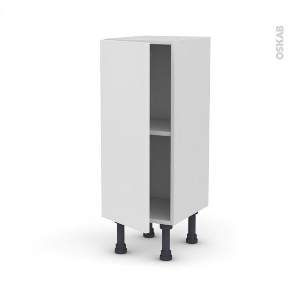 Meuble de cuisine - Bas - GINKO Blanc - 1 porte - L30 x H70 x P37 cm