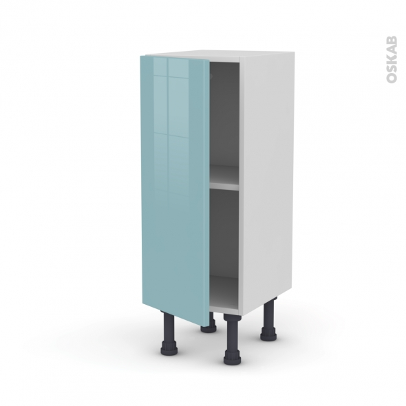 Meuble de cuisine - Bas - KERIA Bleu - 1 porte - L30 x H70 x P37 cm