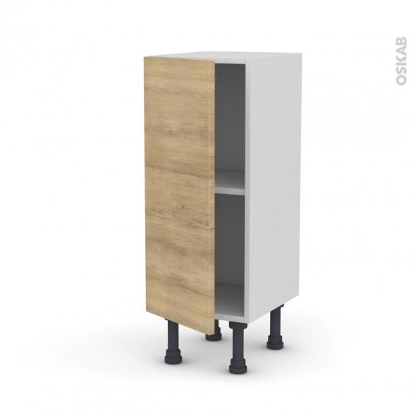 Meuble de cuisine - Bas - HOSTA Chêne naturel - 1 porte - L30 x H70 x P37 cm