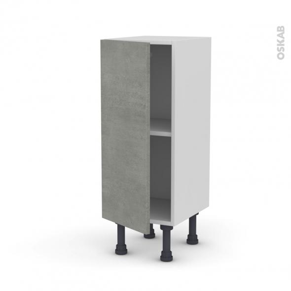 Meuble de cuisine - Bas - FAKTO Béton - 1 porte - L30 x H70 x P37 cm
