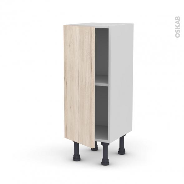Meuble de cuisine - Bas - IKORO Chêne clair - 1 porte - L30 x H70 x P37 cm