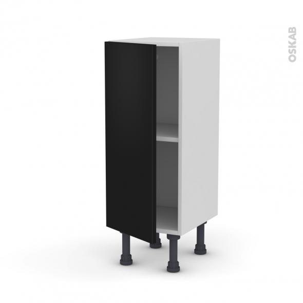 Meuble de cuisine - Bas - GINKO Noir - 1 porte - L30 x H70 x P37 cm