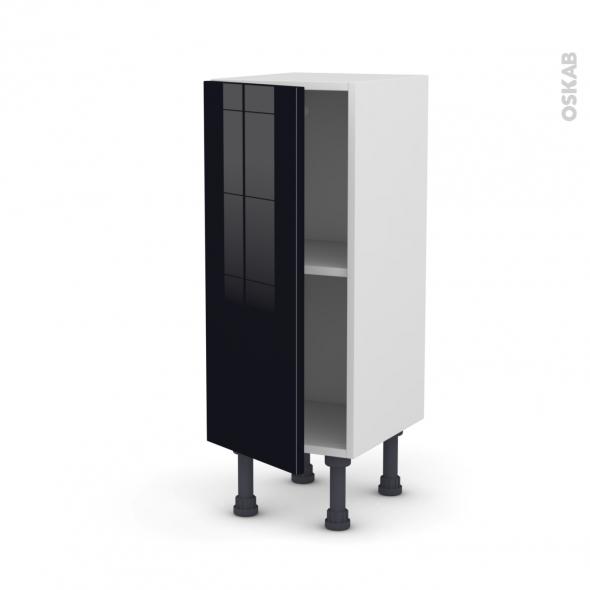 KERIA Noir - Meuble bas prof.37  - 1 porte - L30xH70xP37