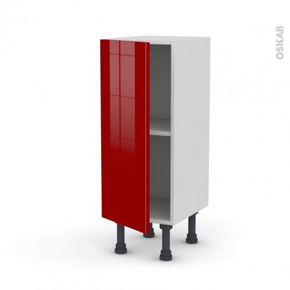 Meuble de cuisine - Bas - STECIA Rouge - 1 porte - L30 x H70 x P37 cm