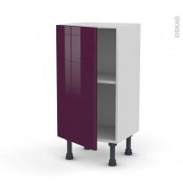 Meuble de cuisine - Bas - KERIA Aubergine - 1 porte - L40 x H70 x P37 cm