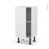 Meuble de cuisine - Bas - GINKO Blanc - 1 porte - L40 x H70 x P37 cm