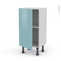 KERIA Bleu - Meuble bas prof.37  - 1 porte - L40xH70xP37