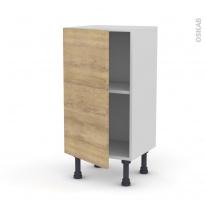 Meuble de cuisine - Bas - HOSTA Chêne naturel - 1 porte - L40 x H70 x P37 cm