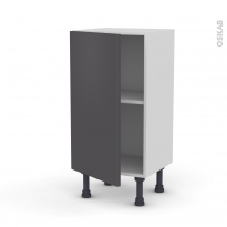 Meuble de cuisine - Bas - GINKO Gris - 1 porte - L40 x H70 x P37 cm