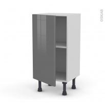 Meuble de cuisine - Bas - STECIA Gris - 1 porte - L40 x H70 x P37 cm