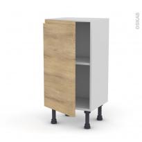 Meuble de cuisine - Bas - IPOMA Chêne naturel - 1 porte - L40 x H70 x P37 cm