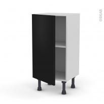 Meuble de cuisine - Bas - GINKO Noir - 1 porte - L40 x H70 x P37 cm