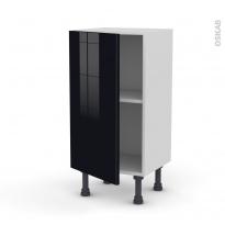 Meuble de cuisine - Bas - KERIA Noir - 1 porte - L40 x H70 x P37 cm