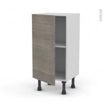 Meuble de cuisine - Bas - STILO Noyer Naturel - 1 porte - L40 x H70 x P37 cm