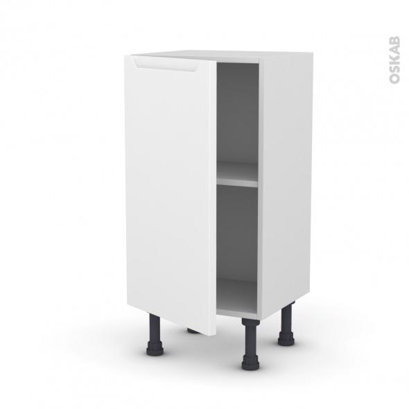 Meuble de cuisine - Bas - PIMA Blanc - 1 porte - L40 x H70 x P37 cm