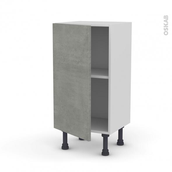 Meuble de cuisine - Bas - FAKTO Béton - 1 porte - L40 x H70 x P37 cm
