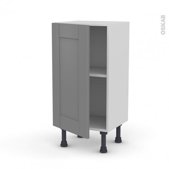 Meuble de cuisine - Bas - FILIPEN Gris - 1 porte - L40 x H70 x P37 cm