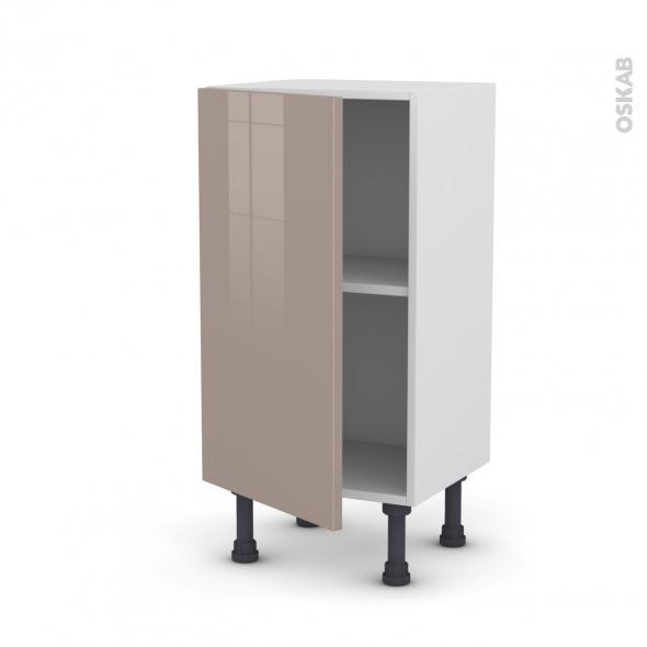 Meuble de cuisine - Bas - KERIA Moka - 1 porte - L40 x H70 x P37 cm