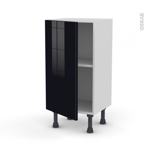 KERIA Noir - Meuble bas prof.37  - 1 porte - L40xH70xP37