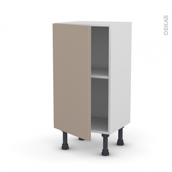 Meuble de cuisine - Bas - GINKO Taupe - 1 porte - L40 x H70 x P37 cm