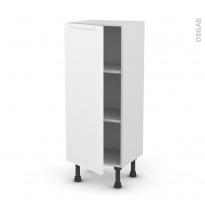 Meuble de cuisine - Bas - PIMA Blanc - 1 porte - L40 x H92 x P37 cm