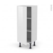 Meuble de cuisine - Bas - STECIA Blanc - 1 porte - L40 x H92 x P37 cm