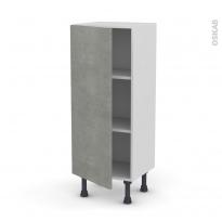 Meuble de cuisine - Bas - FAKTO Béton - 1 porte - L40 x H92 x P37 cm