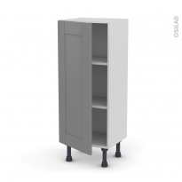 Meuble de cuisine - Bas - FILIPEN Gris - 1 porte - L40 x H92 x P37 cm