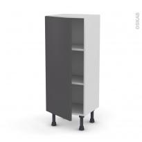 Meuble de cuisine - Bas - GINKO Gris - 1 porte - L40 x H92 x P37 cm