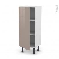 Meuble de cuisine - Bas - KERIA Moka - 1 porte - L40 x H92 x P37 cm