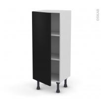 Meuble de cuisine - Bas - GINKO Noir - 1 porte - L40 x H92 x P37 cm