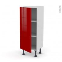 Meuble de cuisine - Bas - STECIA Rouge - 1 porte - L40 x H92 x P37 cm