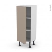 Meuble de cuisine - Bas - GINKO Taupe - 1 porte - L40 x H92 x P37 cm