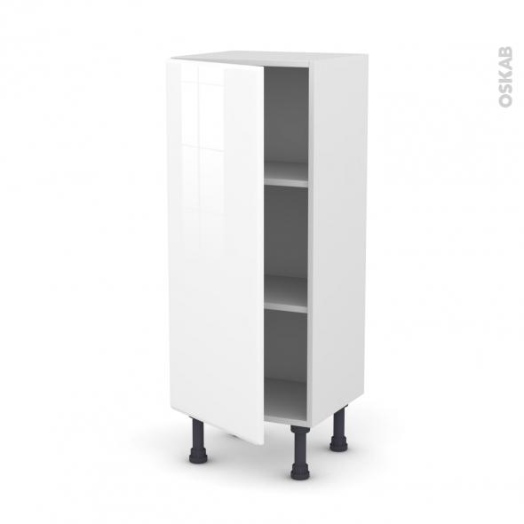 Meuble de cuisine - Bas - IRIS Blanc - 1 porte - L40 x H92 x P37 cm