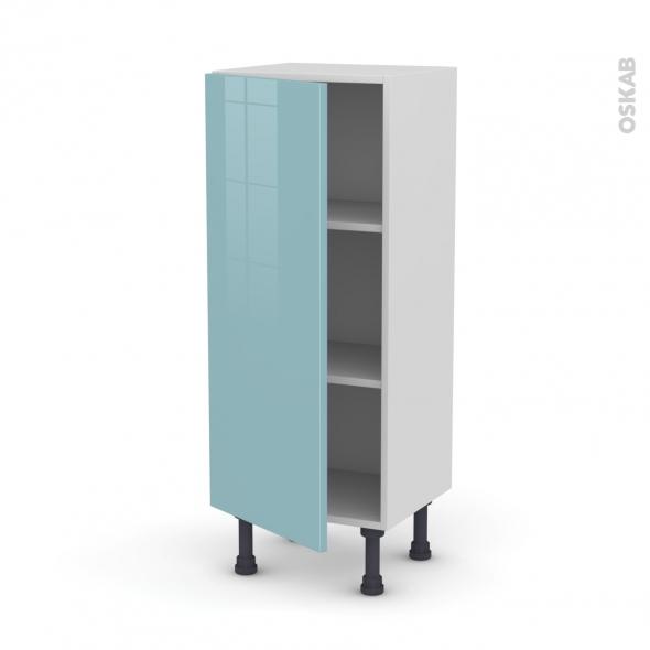 Meuble de cuisine - Bas - KERIA Bleu - 1 porte - L40 x H92 x P37 cm