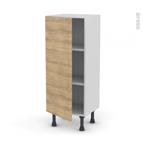 Meuble de cuisine - Bas - HOSTA Chêne naturel - 1 porte - L40 x H92 x P37 cm