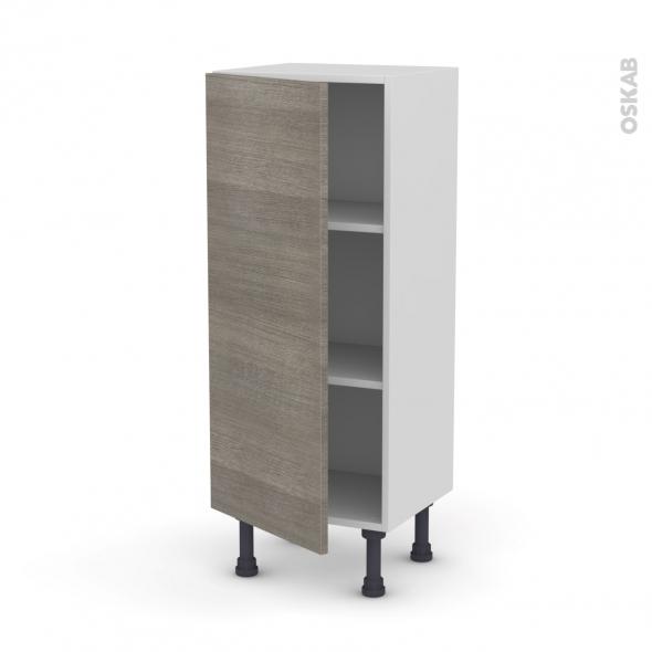 Meuble de cuisine - Bas - STILO Noyer Naturel - 1 porte - L40 x H92 x P37 cm