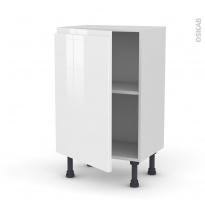 Meuble de cuisine - Bas - IPOMA Blanc - 1 porte - L50 x H70 x P37 cm