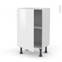 Meuble de cuisine - Bas - IRIS Blanc - 1 porte - L50 x H70 x P37 cm