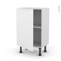 PIMA Blanc - Meuble bas prof.37  - 1 porte - L50xH70xP37