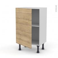 Meuble de cuisine - Bas - HOSTA Chêne naturel - 1 porte - L50 x H70 x P37 cm
